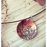 Branches - Etched copper pendant by Dana Reed